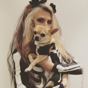 Halloween Skeleton Dog Costume