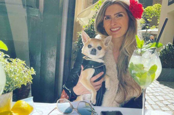 Chilli Chihuahua with Mummy at Hush Mayfair